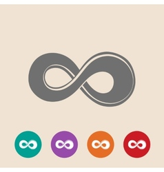 The symbol of infinity vector image