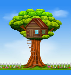 a tree house vector image