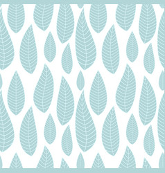 abstract natural seamless background with leaves vector image