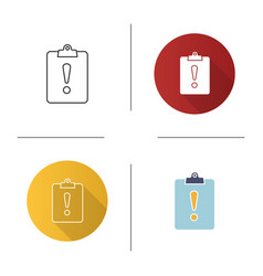 Assignment late icon vector