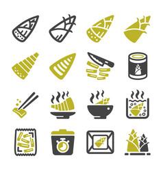 bamboo shoot icon vector image