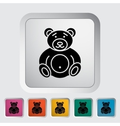 Bear toy vector image
