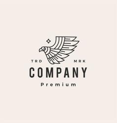 bird prey eagle hipster vintage logo icon vector image