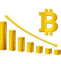 bitcoin market crash graph bitcoin hype vector image