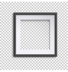 blank white and black picture frame square empty vector image