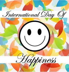 Card for International Day of Happiness vector image