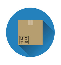Cardboard package box icon vector