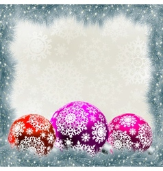 christmas bauble card vector image