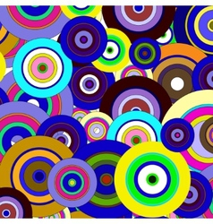 circles colorful pattern vector image