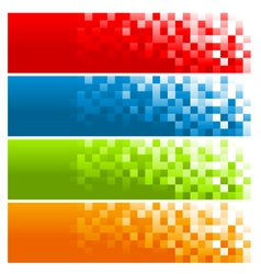 Colorful Pixel Banners vector