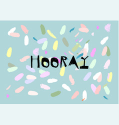 confetti greeting card design vector image