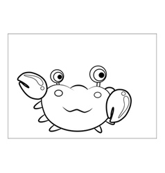 Crab cartoon vector image