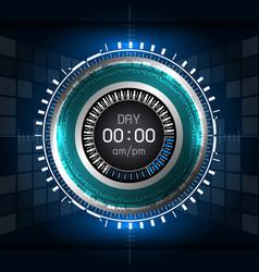 cyber digital timer vector image