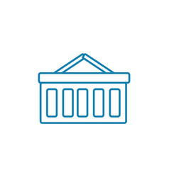 department store linear icon concept department vector image