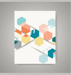 design of magazine cover with abstract vintage vector image