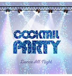Disco background Cocktail party vector