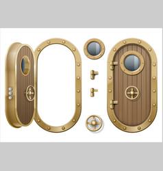 Door of the ship vector