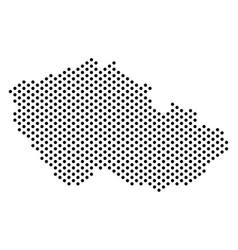 Dotted czech map vector