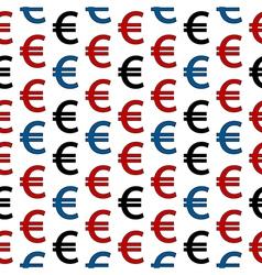 Euro symbol seamless pattern vector image