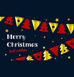 festive background merry christmas and happy new vector image