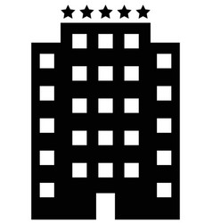 five star hotel icon vector image
