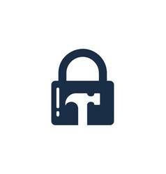 fix security logo icon design vector image