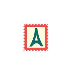 flat vintage postage stamp postmark icon vector image