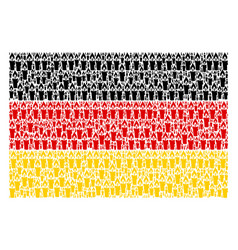 German flag collage of candle items vector