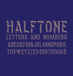 halftone letters and numbers with currency signs vector image