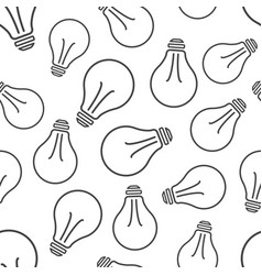 halogen lightbulb seamless pattern background vector image