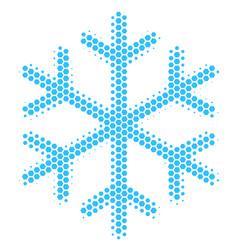 Hexagon halftone snowflake icon vector