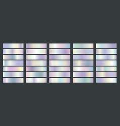 holographic metallic gradients vector image