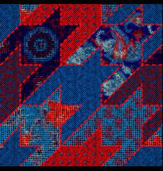 Imitation a texture rough canvas seamless vector