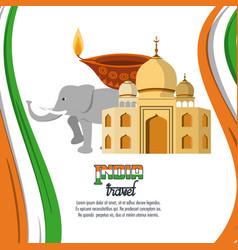 India travel card vector