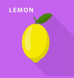 lemon icon flat style vector image