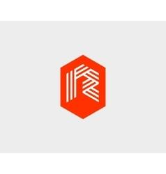 Letter R logo icon design Creative line vector image