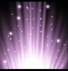 light flare from below purple color vector image