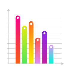 linear histogram bar chart icon vector image