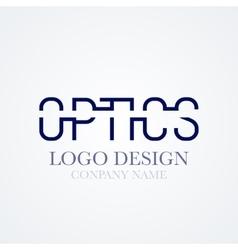 Logo design optics vector