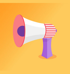 loudspeaker megaphone icon speaking-trumpet vector image
