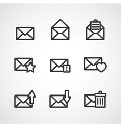 Message icons vector image