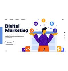 modern flat design digital marketing vector image