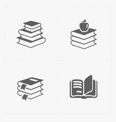 modern web books set on white vector image