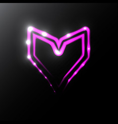 neon heart icon vector image