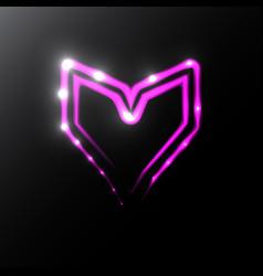 neon heart icon vector image