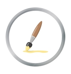 Paint brush cartoon icon for web and vector image
