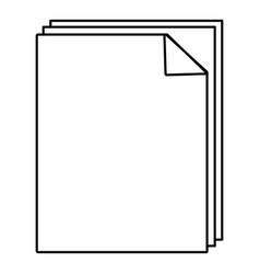 paper icon outline line style vector image