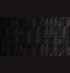 Parallelogram blocks conceptual tech 3d black vector