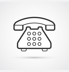 phone flat line trendy icon eps10 vector image