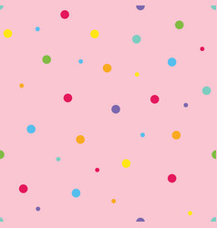 Pink seamless pattern background with dots vector